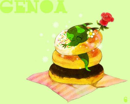 ろくさまより 夢見るジェノバくんとドーナツ.jpg